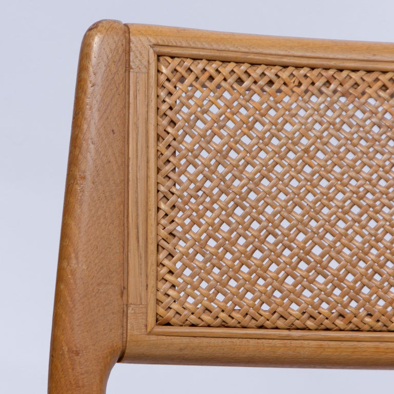 Set of Four Danisch Midcentury Oak Dining Chairs, 1950s 4