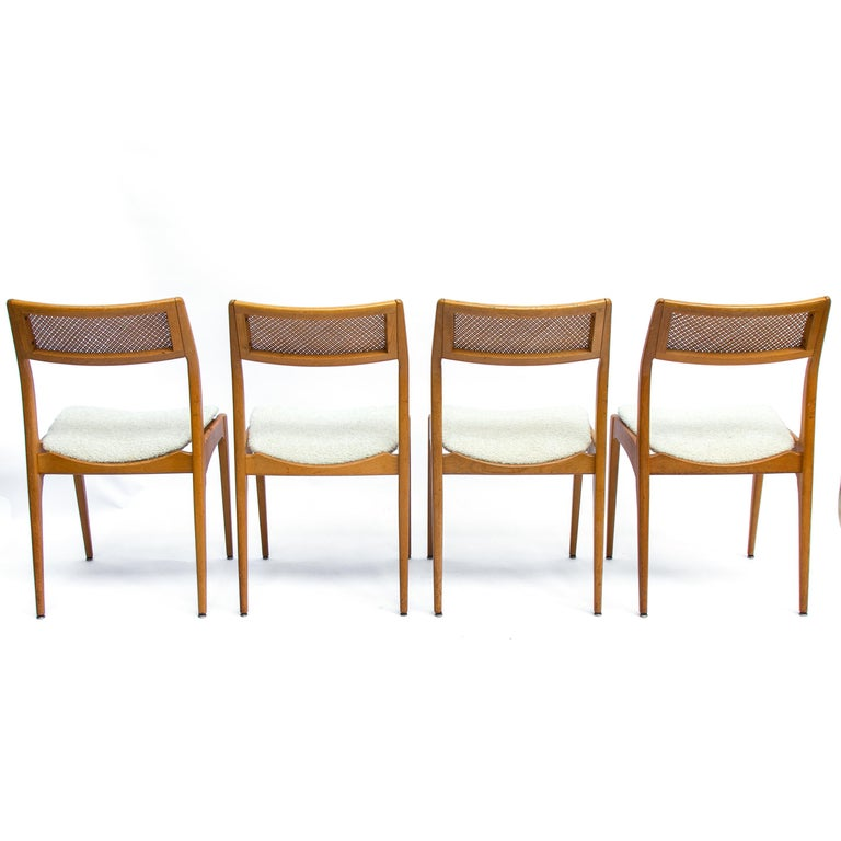Mid-Century Modern Set of Four Danisch Midcentury Oak Dining Chairs, 1950s
