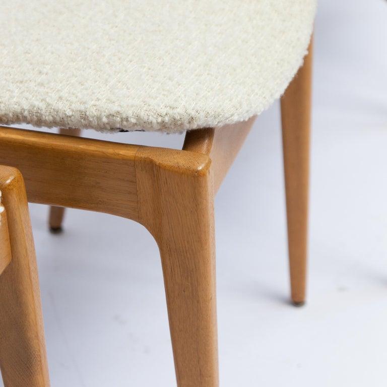 Danish Set of Four Danisch Midcentury Oak Dining Chairs, 1950s