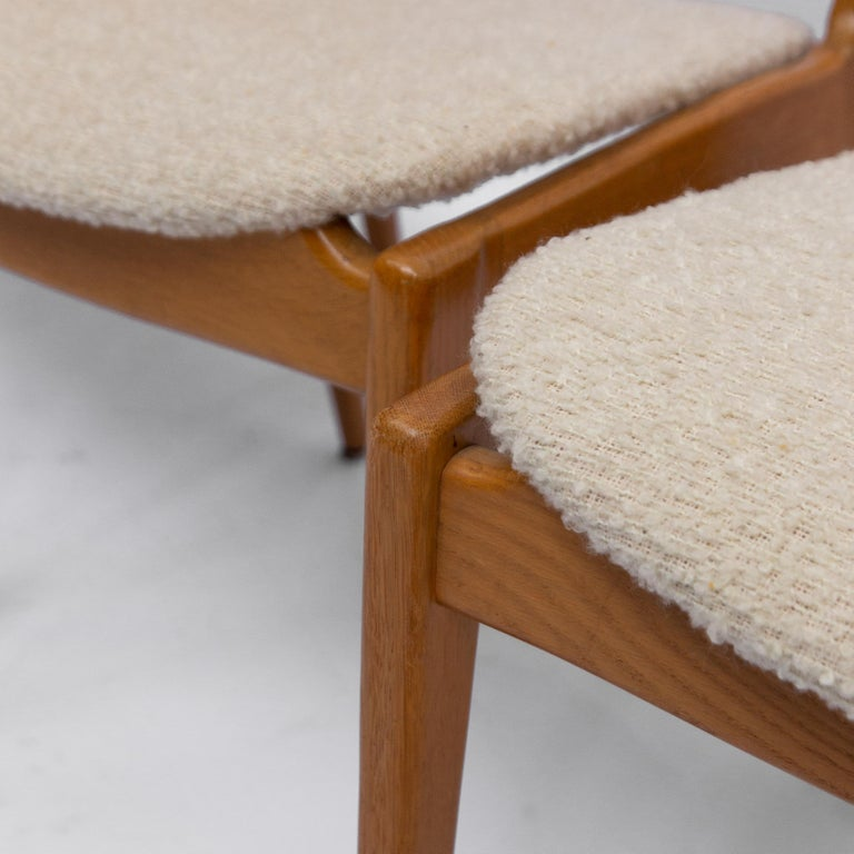 Mid-20th Century Set of Four Danisch Midcentury Oak Dining Chairs, 1950s