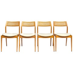 Set of Four Danish Midcentury Oak Dining Chairs, 1950s