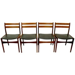 Set of Four Danish Dining Chairs by Frem Rojle