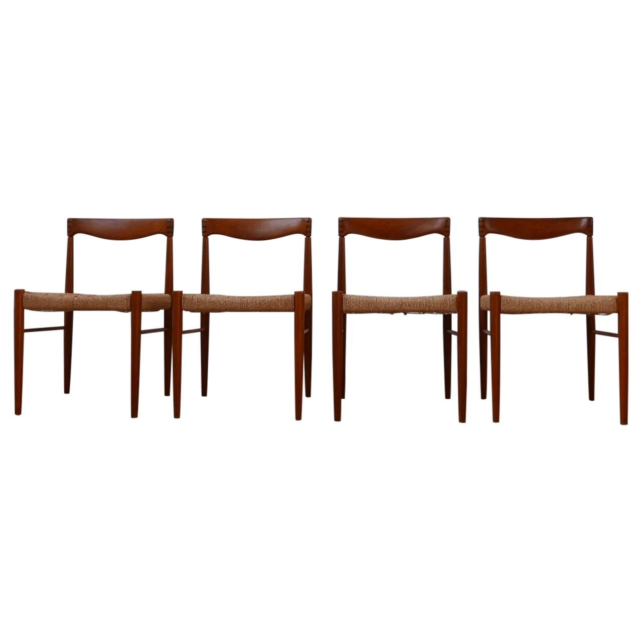 Set of Four Danish Mid-Century Dining Chairs by W.H. Klein for Bramin