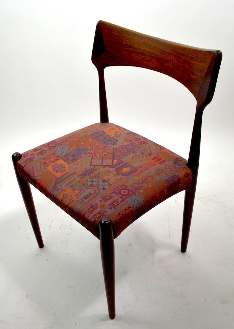 Set of Four Danish Mid Century Dining Chairs in Rosewood Attributed to AM Mobler For Sale 2