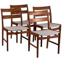 Set of Four Danish Mid-Century Modern Teak Dining Chairs