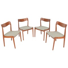 Set of Four Danish Modern Dining Chairs in Teak