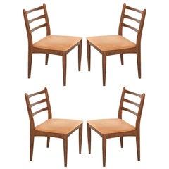 Set of Four Danish Modern Oak Side Chairs