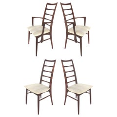 Niels Koefoed Hornslet Møbelfabrik Danish Modern Rosewood Chairs, Set of Four