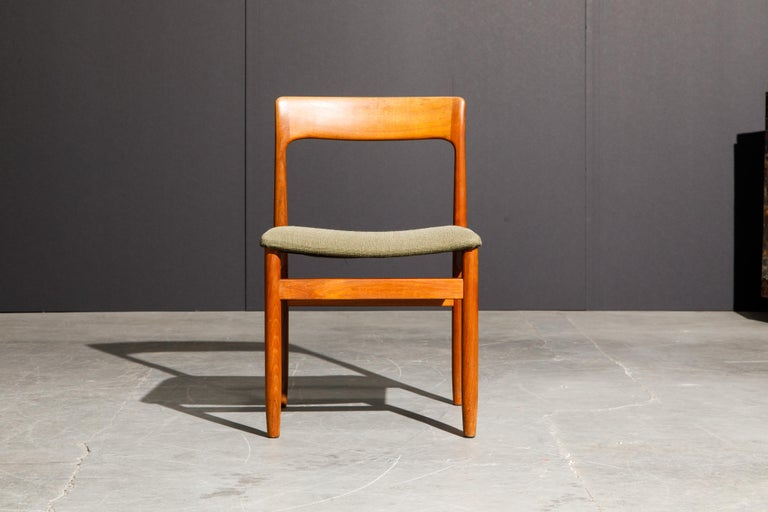 Set of Four Danish Modern Teak Dining Side Chairs in the Style of Niels Møller  For Sale 5