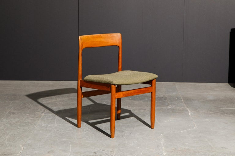 Set of Four Danish Modern Teak Dining Side Chairs in the Style of Niels Møller  For Sale 6