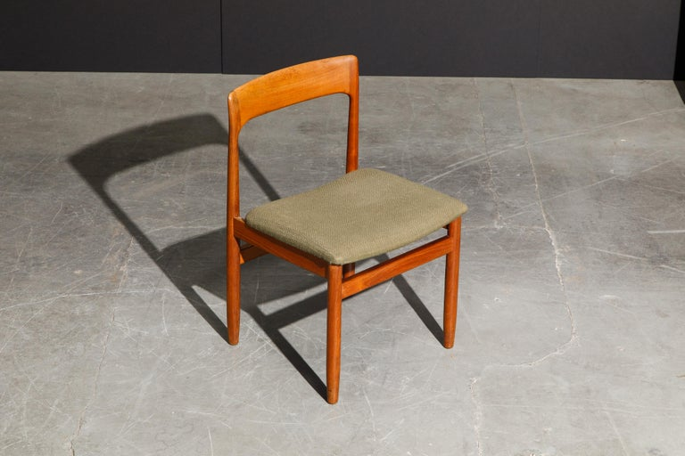 Set of Four Danish Modern Teak Dining Side Chairs in the Style of Niels Møller  For Sale 7