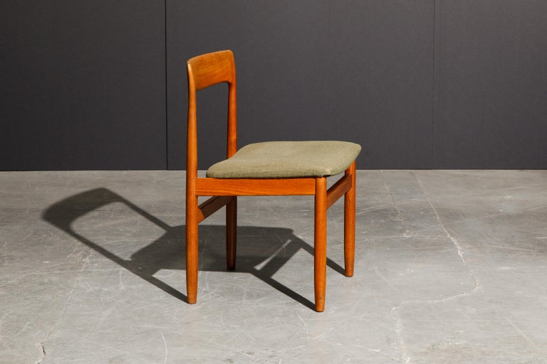 Set of Four Danish Modern Teak Dining Side Chairs in the Style of Niels Møller  For Sale 8