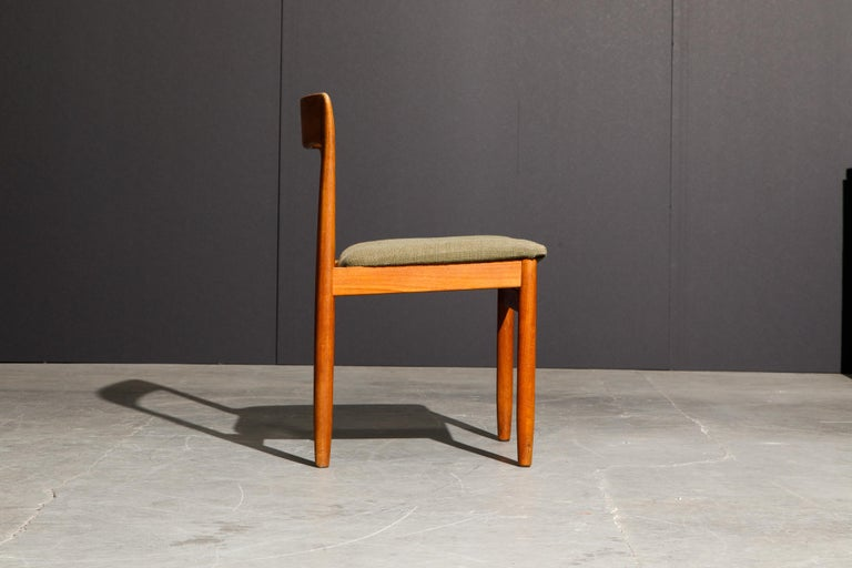 Set of Four Danish Modern Teak Dining Side Chairs in the Style of Niels Møller  For Sale 9