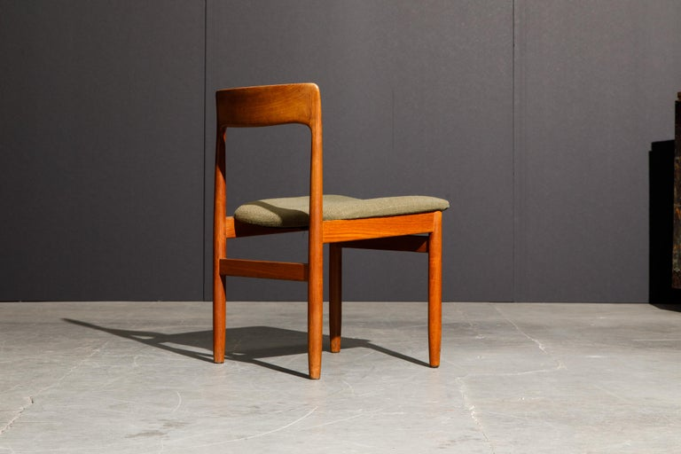 Set of Four Danish Modern Teak Dining Side Chairs in the Style of Niels Møller  For Sale 10