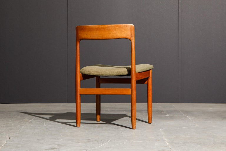 Set of Four Danish Modern Teak Dining Side Chairs in the Style of Niels Møller  For Sale 11