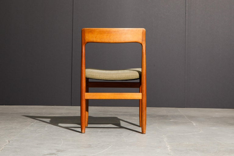 Set of Four Danish Modern Teak Dining Side Chairs in the Style of Niels Møller  For Sale 12