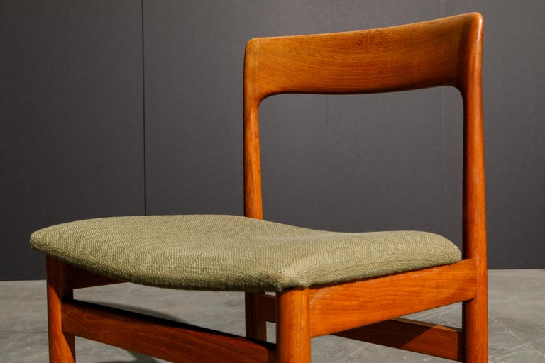 Set of Four Danish Modern Teak Dining Side Chairs in the Style of Niels Møller  For Sale 13