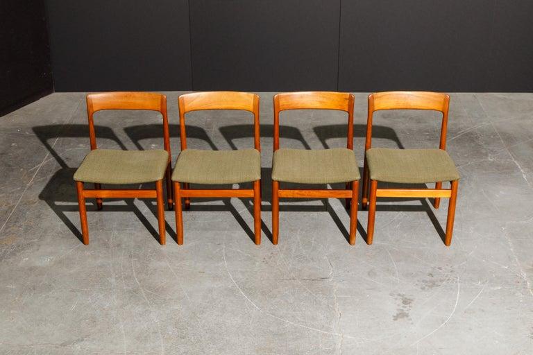 Scandinavian Modern Set of Four Danish Modern Teak Dining Side Chairs in the Style of Niels Møller  For Sale