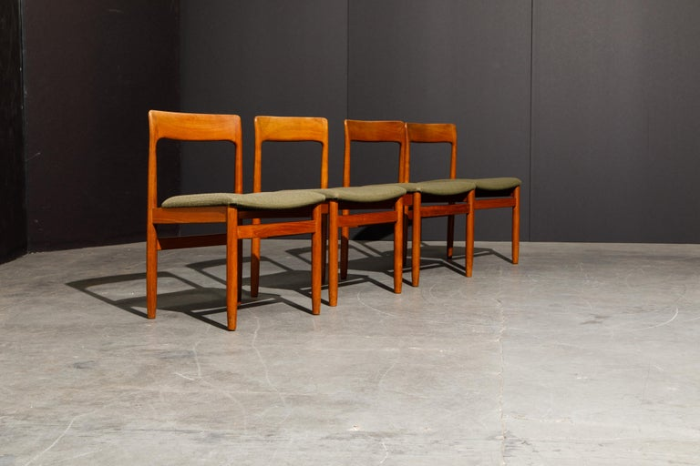 Set of Four Danish Modern Teak Dining Side Chairs in the Style of Niels Møller  In Good Condition For Sale In Los Angeles, CA