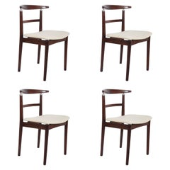 Set of Four Danish Dining Chairs by Helge Sibast and Børge Rammeskov
