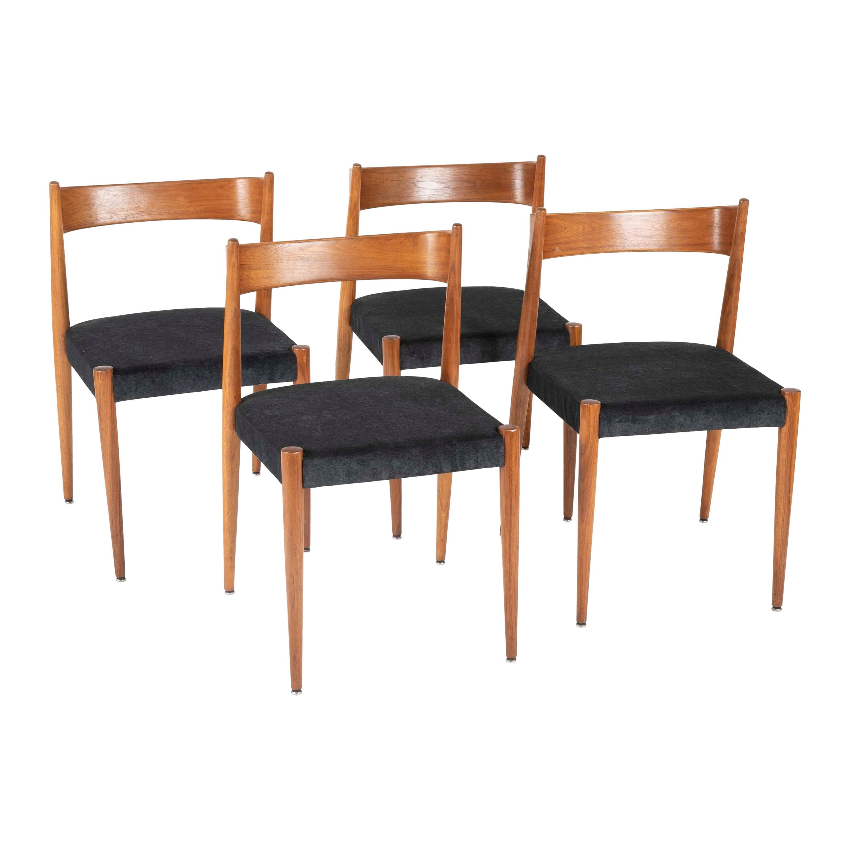 Set of Four Danish Teak Chairs