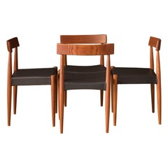 Set of Four Danish Teak Dining Chairs by Arne Hovmand-Olsen for Mogens Kold