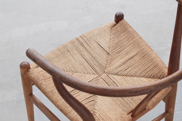 Set of Four Danish Wishbone Chairs CH 24 by Hans J. Wegner for Carl Hansen Oak For Sale 4