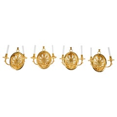 Set of Four Delisle Gold-Plated Sconces