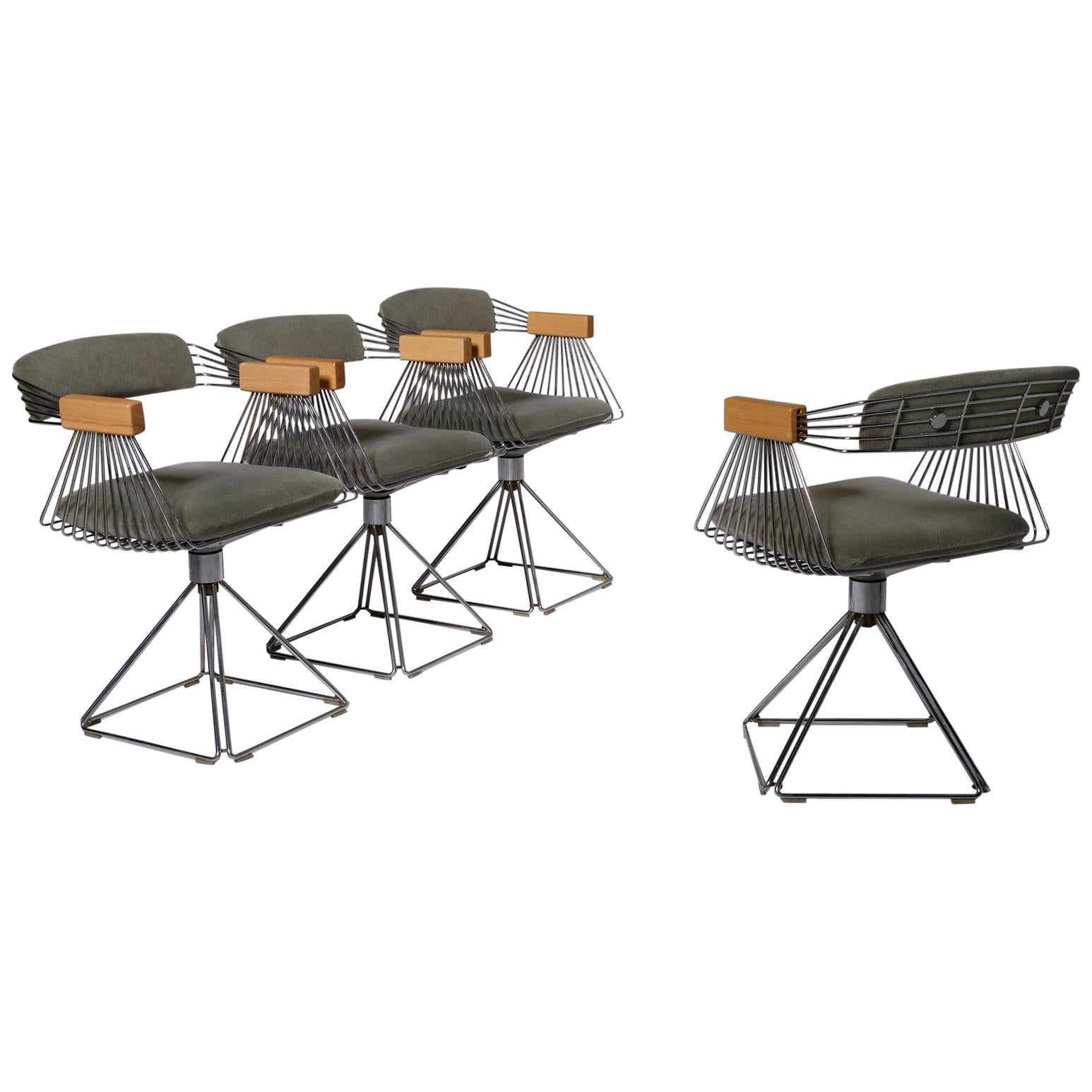 Set of Four 'Delta' Chairs by Rudi Verelst, 1971