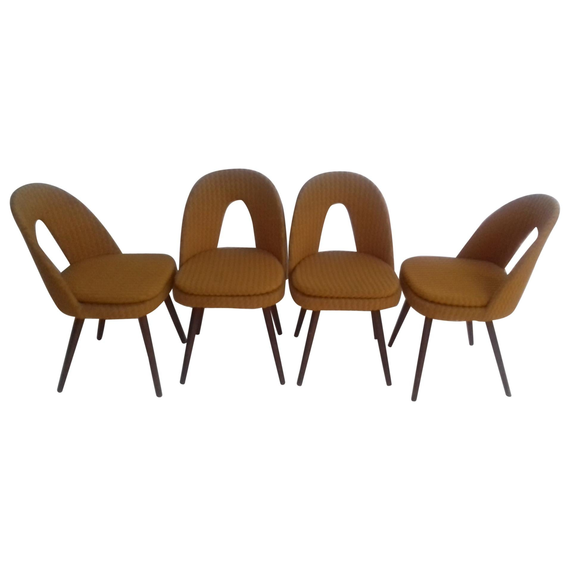 Set of Four Design Dining Chairs Designed by Antonín Šuman, 1960s