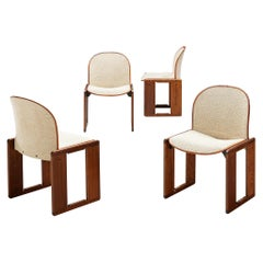 Set of Four 'Dialogo' Chairs in Ivory Upholstery by Afra & Tobia Scarpa