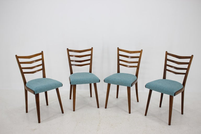 - Made in Czechoslovakia - Made of oakwood - New upholstery - Restored - Good condition.
