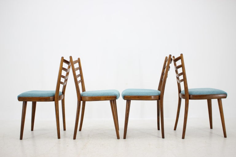 Czech Set of Four Dining Chairs, 1960s For Sale