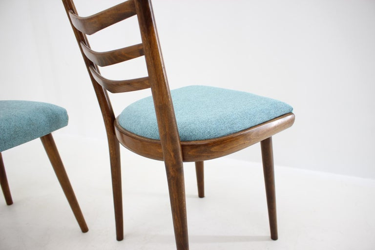 Fabric Set of Four Dining Chairs, 1960s For Sale