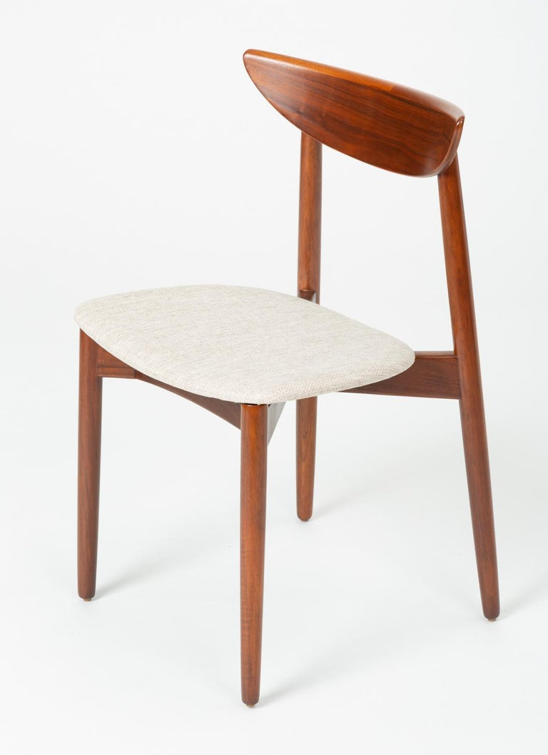 Set of Four Dining Chairs by Harry Østergaard for Randers Møbelfabrik For Sale 4