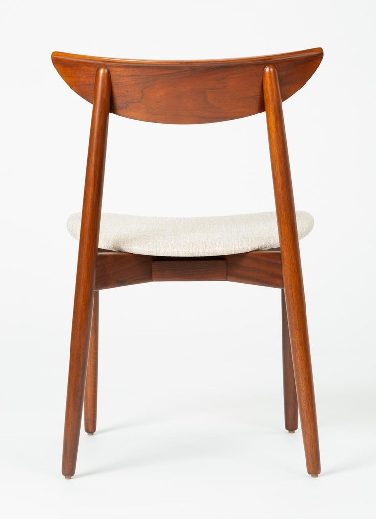 Set of Four Dining Chairs by Harry Østergaard for Randers Møbelfabrik For Sale 6