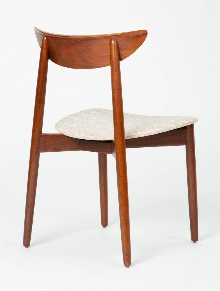 Set of Four Dining Chairs by Harry Østergaard for Randers Møbelfabrik For Sale 7