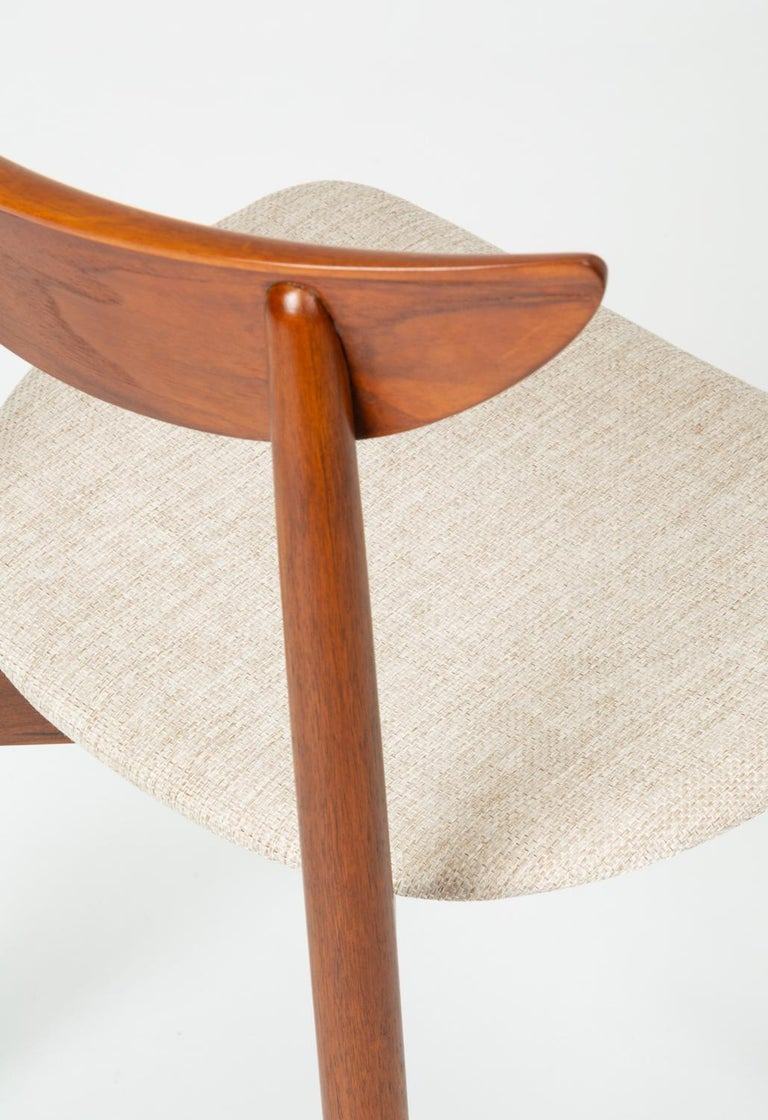 Set of Four Dining Chairs by Harry Østergaard for Randers Møbelfabrik For Sale 9
