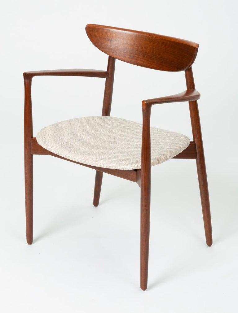 Scandinavian Modern Set of Four Dining Chairs by Harry Østergaard for Randers Møbelfabrik For Sale