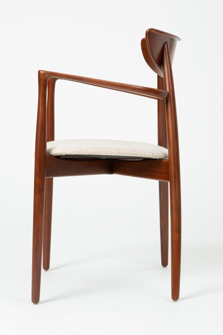 Set of Four Dining Chairs by Harry Østergaard for Randers Møbelfabrik In Good Condition For Sale In Los Angeles, CA