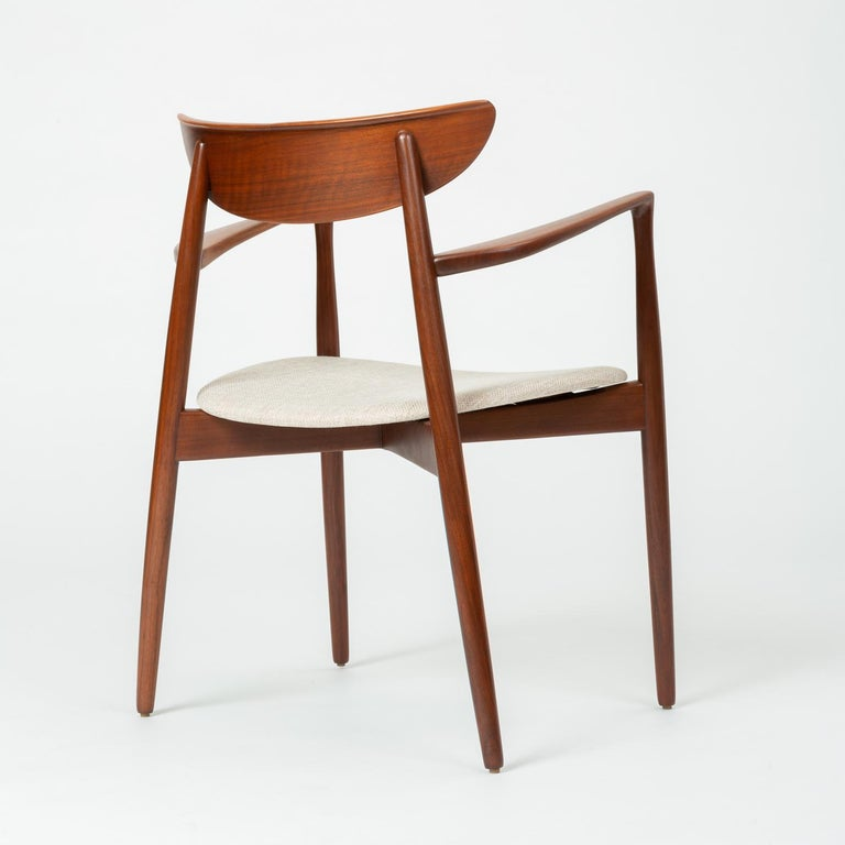 Fabric Set of Four Dining Chairs by Harry Østergaard for Randers Møbelfabrik For Sale