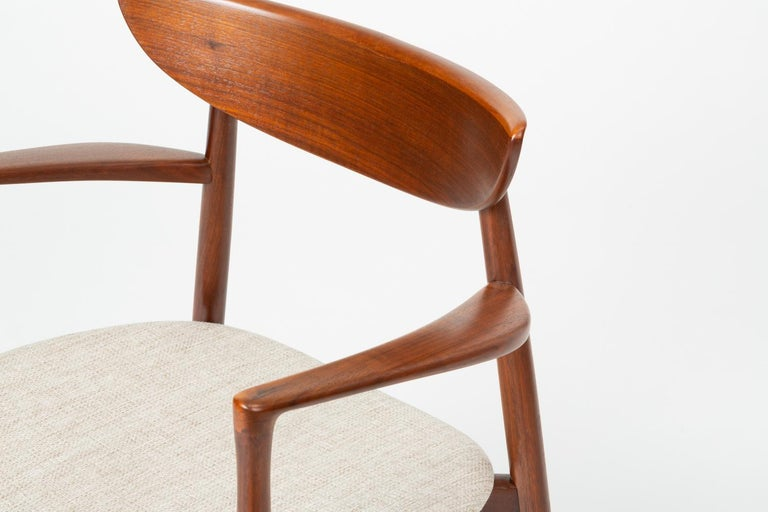 Set of Four Dining Chairs by Harry Østergaard for Randers Møbelfabrik For Sale 1