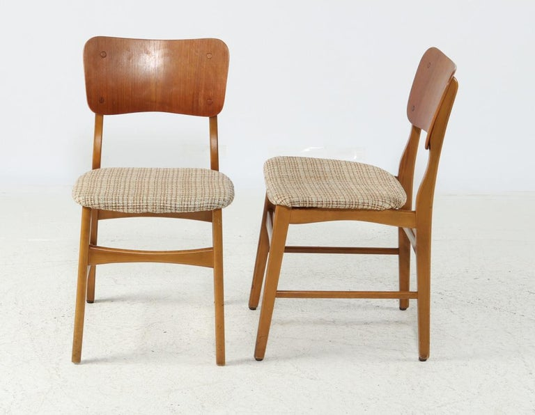 Scandinavian Modern Set of Four Dining Chairs by Ib Kofod-Larsen for Christensen & Larsen For Sale