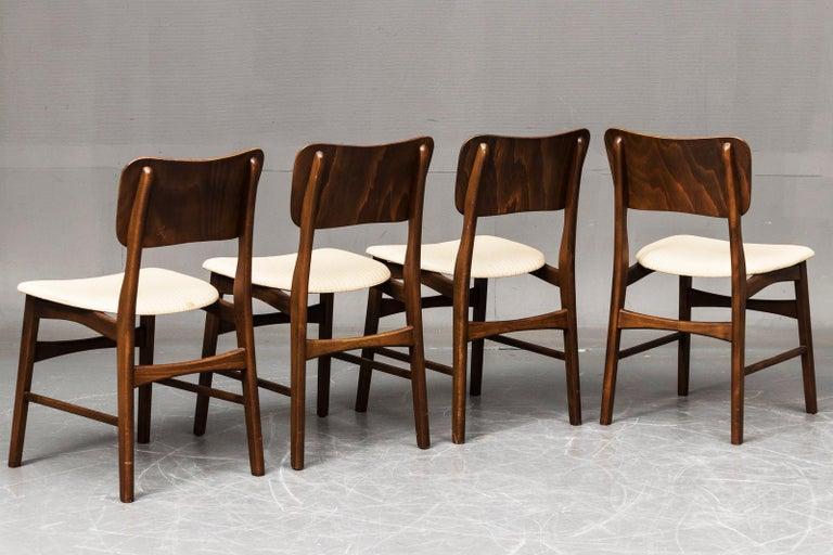 Danish Set of Four Dining Chairs by Ib Kofod-Larsen for Christensen & Larsen For Sale