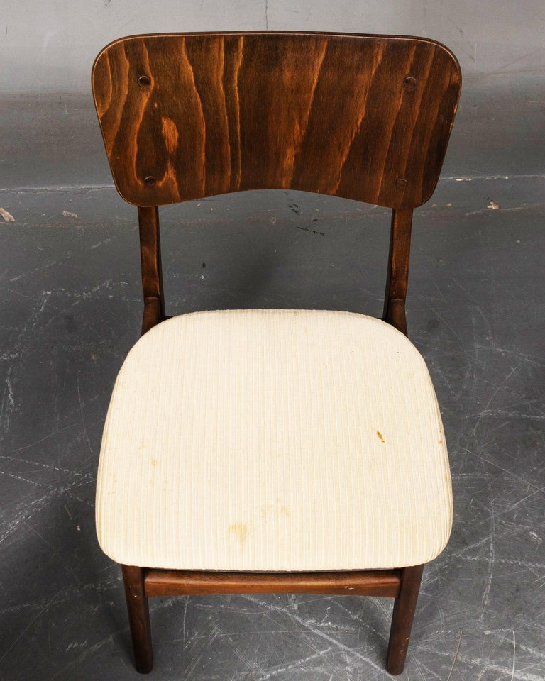 Set of Four Dining Chairs by Ib Kofod-Larsen for Christensen & Larsen In Good Condition For Sale In Vienna, AT