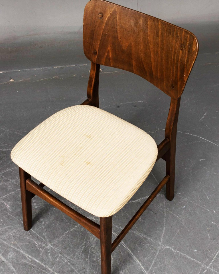 Mid-20th Century Set of Four Dining Chairs by Ib Kofod-Larsen for Christensen & Larsen For Sale