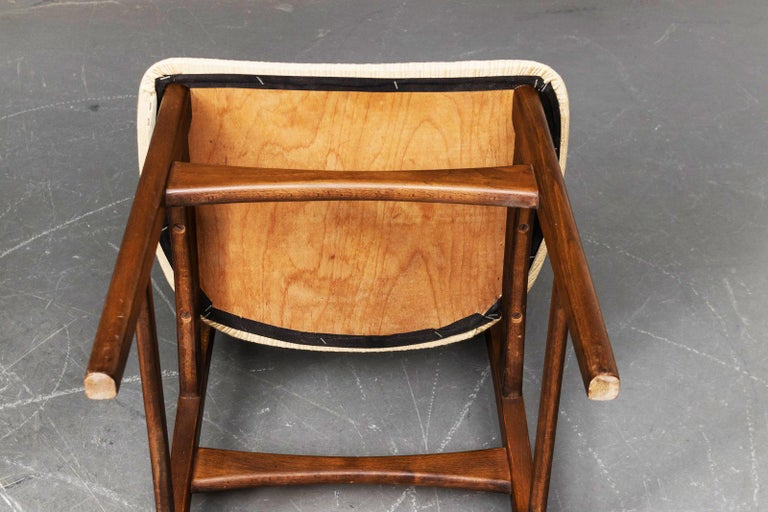 Beech Set of Four Dining Chairs by Ib Kofod-Larsen for Christensen & Larsen For Sale