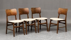 Set of Four Dining Chairs by Ib Kofod-Larsen for Christensen & Larsen