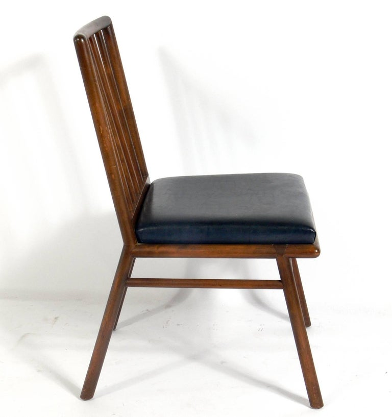 Mid-Century Modern Set of Four Dining Chairs by T. H. Robsjohn-Gibbings For Sale