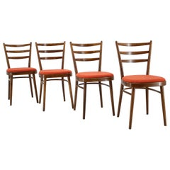 Set of Four Dining Chairs, Czechoslovakia, 1965